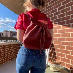 Legacy Vintage Coach Sonoma Leather Red Backpack